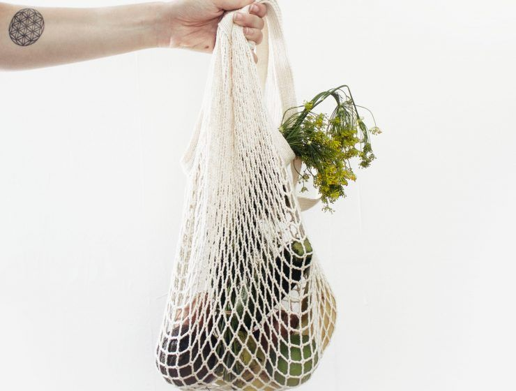Re-usable tote shopping bag